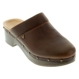 Vionic Chocolate Day Kacie Leather Mules US Size 8